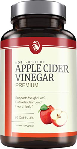 Premium Apple Cider Vinegar Pills - Natural Weight Loss & Detox Cleanse - Appetite Suppressant & Bloating Relief - Thermogenic Supplement for Women and Men, Non-GMO Capsules