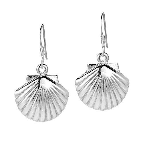 Summer Sea Shell .925 Sterling Silver Dangle Earrings
