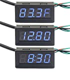 0.56'' Blue LED Time/Voltage/Temp Monitor Meter DC 12V/24V 3in1 Multifunction Display Panel Meter or home/factory/Car and DIY ect