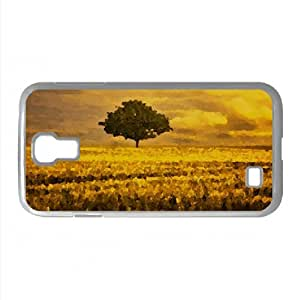 Gold Landscape Watercolor style Cover Samsung Galaxy S4 I9500 Case (Summer Watercolor style Cover Samsung Galaxy S4 I9500 Case)