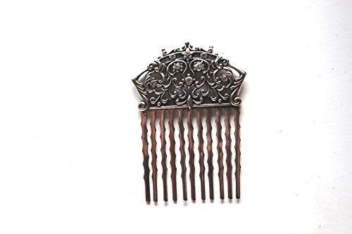 Beaucoup Designs Wedding Bride Bridal Hair Comb With Swarovski Crystals (Silver)