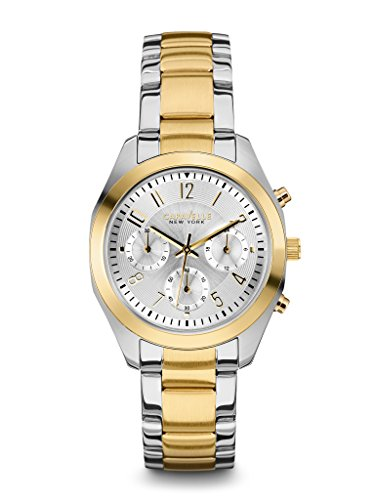 caravelle-new-york-womens-45l136-analog-display-japanese-quartz-two-tone-watch