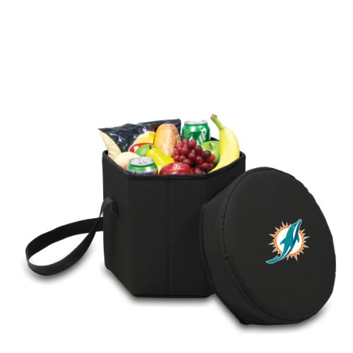 NFL Miami Dolphins Bongo Insulated Collapsible Cooler, Black