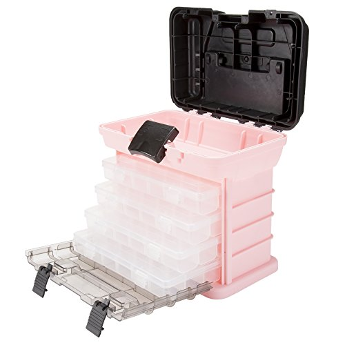 Stalwart 75-STO3183 Parts & Crafts Rack Style Tool Box with 4 Organizers, ()