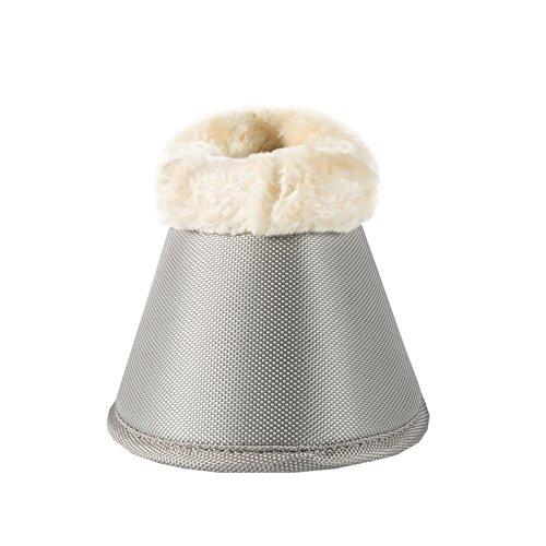 Horze Quintus Comfort Fleece ProTec Bell Boots Lunar Rock Grey Medium