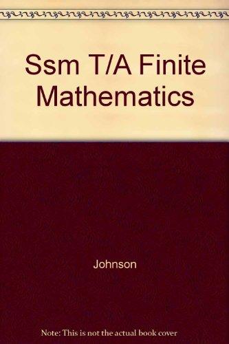 Ssm T/A Finite Mathematics