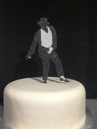 Awe Inspiring Classic Michael Jackson Glitter Card Silver Black 2 Colour Funny Birthday Cards Online Hetedamsfinfo