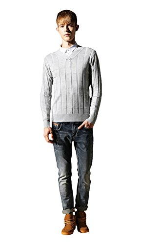 Bakeboy Men All-Match Pure Cotton Thin Base Sweater