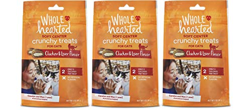 WholeHearted Soft Center Crunchy Chicken and Liver Flavor Treats for Cats (9 OZ)