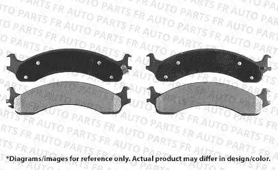 Fits:- Ram 2500 Ram 3500 4 Ceramic Pads Front Kit Heavy Tough-Series 8lug 2 Cross-Drilled Disc Brake Rotors