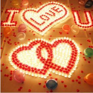 10 LED White Heart Shaped Tealights
