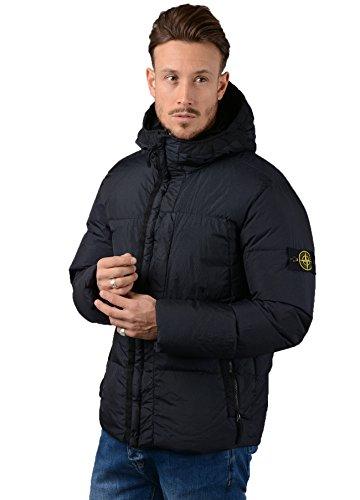 Stone Island Jacket - Mens 40223 Garment Dyed Crinkle Down Jacket In Navy (Stone Mens Hoodie Island)