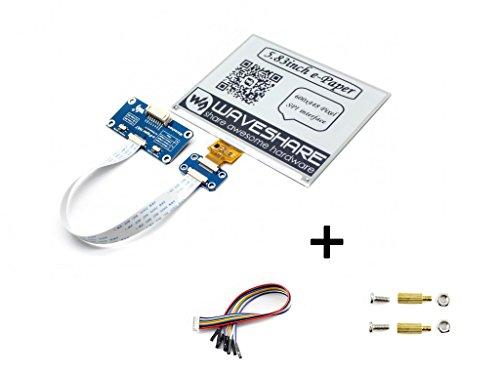 5.83inch E-Paper Display Hat Module 600x448 E-Ink Electronic Paper Screen Two-Color Black/White Compatible with Raspberry Pi Zero/Zero W/Zero WH/2B/3B/3B+ by waveshare