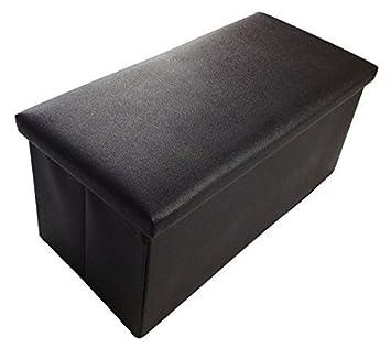 GMMH Sgabello Sgabello Originale 76 x 38 x 38 cm Scatola Scatola salvaspazio Sedia a cubo Baule Poggiapiedi Panca Pieghevole Resiliente Fino 300 kg - Arancione