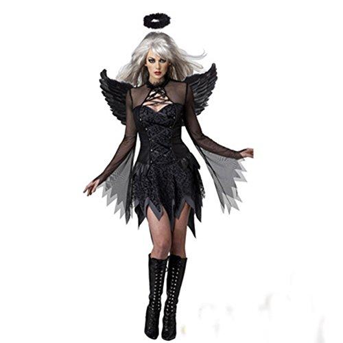 Hallowmax Halloween Women Cosplay Suit Fallen Angels Devil Witch Costume