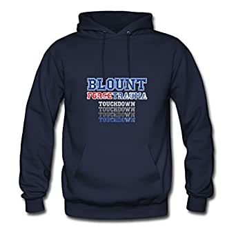 Blount - Football Designed Women Customized Hoodies - X-large - Electric Navy