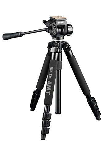 SLIK PRO 340 QF AMT Tripod with 504QF-II Pan/Tilt Head, Black (613-345)
