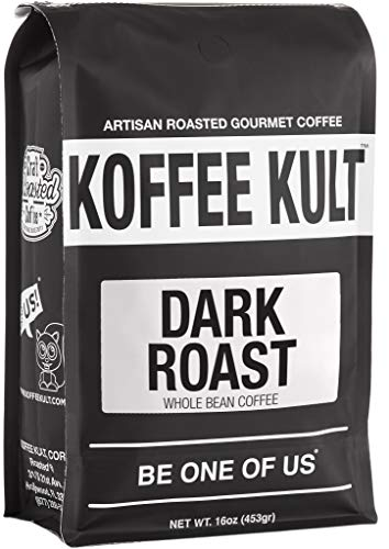 (Koffee Kult DARK ROAST COFFEE (16oz) Highest Quality Delicious Specialty Grade Whole Bean Coffee - Fresh Gourmet Aromatic Artisan)
