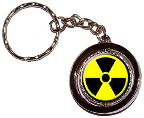 Radioactive Nuclear Warning Spinning Keychain
