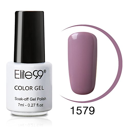 Elite99 Soak Off UV LED Color Gel Polish Lacquer Nail Art Manicure 7ml 1579 Lavender Frost (Best Nail Polish Colors For February)