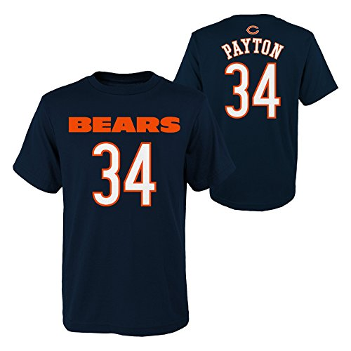 Outerstuff NFL Chicago Bears Youth Boys Retired Player Mainliner Name Short Sleeve Tee, L(14-16), Navy