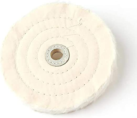"2 pack 6/'/' Cloth Buffing Polishing Wheel 5//8/"" Arbor Buffer Polish Grinder Pad"