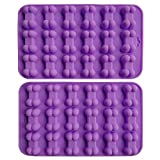 AxeSickle (2 per pack) Silicone Baking Molds Cake Chocolate Candy Pans Dog Treats Bones Silicone Mold,Mini Bone Shape Silicone Ice Cube Trays, Silicone Bone Pet Cookies Molds.