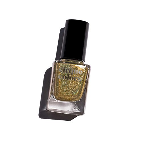 Estate Glaze (Cirque Colors Holographic Nail Polish - Estate - Gold Metallic - 0.37 fl. oz. (11 ml) - Vegan, Cruelty-Free, Non-Toxic Formula)