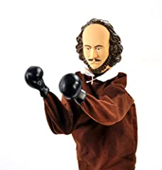 "In this corner, from Stratford-upon-Avon, weighing in at 10 stone, the Playwright Pugilist, the Battling Bard, William Shakespeare! This 12-1/2"" (31.8 cm) punching puppet has two levers inside its breeches that make Shakespeare punch. A perfe..."