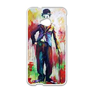 Charles Chaplin HTC One M7 Cell Phone Case White persent xxy002_6897365
