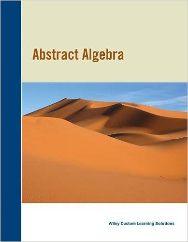 Abstract Algebra 3rd Edition CA Edition David S Dummit