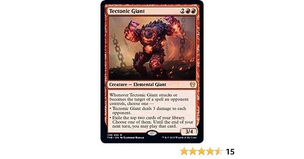 4x TECTONIC GIANT Theros Beyond Death Rare magicman-europe* *MtG