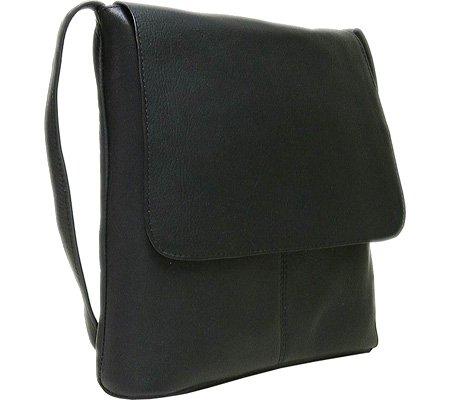 ledonne-womens-leather-simple-flap-over-handbag-black-small