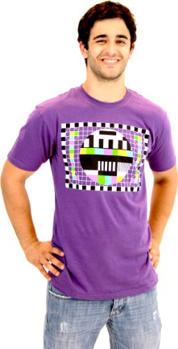 The Big Bang Theory Sheldon Checkered Test Pattern Purple Mens T-shirt