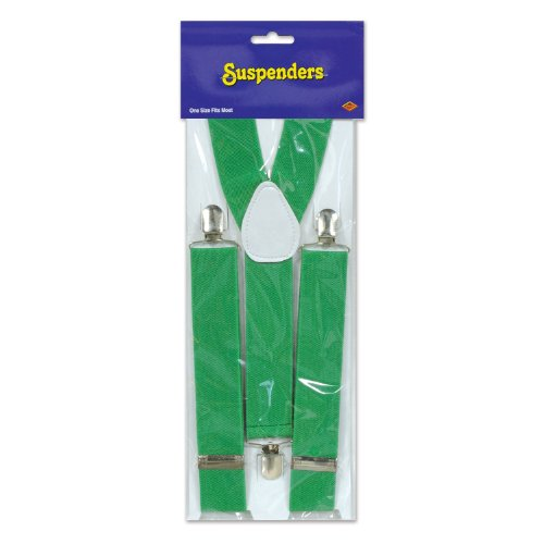 [Beistle Suspenders Occasion Party Item, Green] (Paddys Day Costumes)