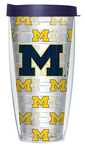 Michigan Logo Mug - University Of Michigan Repeat Logo Super Traveler 22 Oz Tumbler Mug with Lid