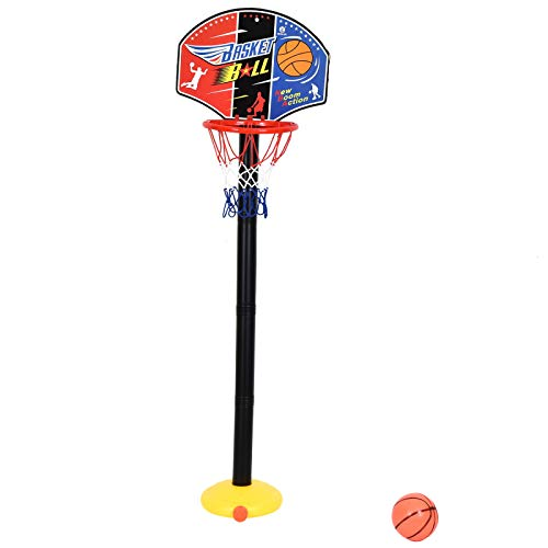Timoo Mini Basketball Hoop for Kids Toddler Basketball Goal Set - Adjustable Height up to 35 Inches]()