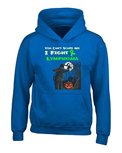 You Can't Scare Me I Fight Lymphoma Awareness Lime - Adult Hoodie 4xl Royal