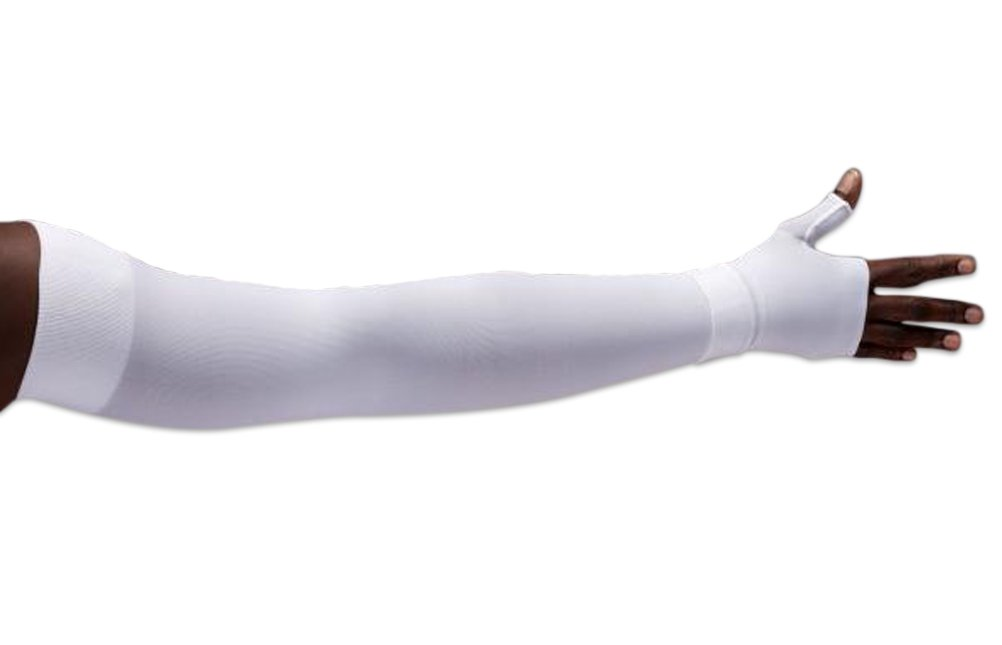 Lympediva White Compression Armsleeve Only (hand not included) Short 30-40 mmHg Small with Diamond Band