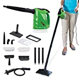 H2O Steam FX Pro, 14 pc, 5-in-1 Steam Cleaning System That Easily converts from a Powerful Upright Steam Mop to a Convenient Hand-Held-Steamer! (H2O Steam FX Pro)
