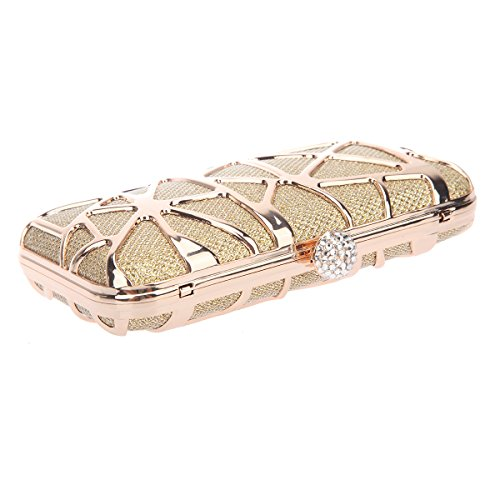 Box For Purses Gold Bonjanvye Special Clutches Girls Water Cube Evening ntnR6Hxw