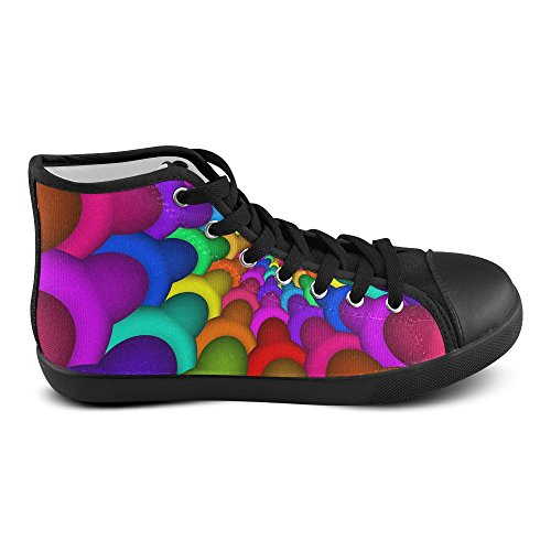 Shoes Spiral Color6 Artsadd Multi Top Model002 For Women Rainbow Canvas High Psychedelic HYHFZq7