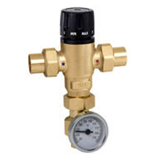 3/4 inch Sweat MIXCAL 3-way Thermostatic Mixing Valve with Temperature Gauge & Check Valve 521519AC by Caleffi