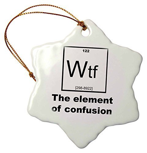 Funny Christmas Snowflake Ornaments Wtf The Element Of Confusion Holiday Xmas Tree Hanging Ornaments Decoration Gifts Wtf Christmas Ornaments