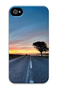 iPhone 4S Case, iPhone 4S Cases - Hdr Road Polycarbonate Hard Case Cover for iPhone 4/4S