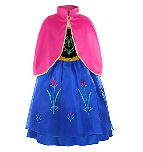 ReliBeauty Little Girls G8180 Retro Princess Anna Fancy Dress Costume, 4, ()