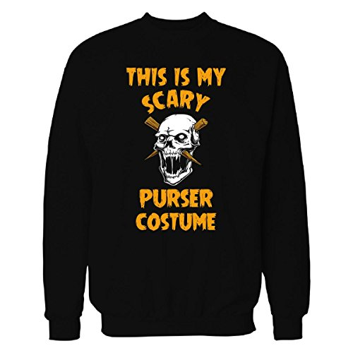 Purser Costume (This Is My Scary Purser Costume Halloween Gift - Sweatshirt Black 2XL)