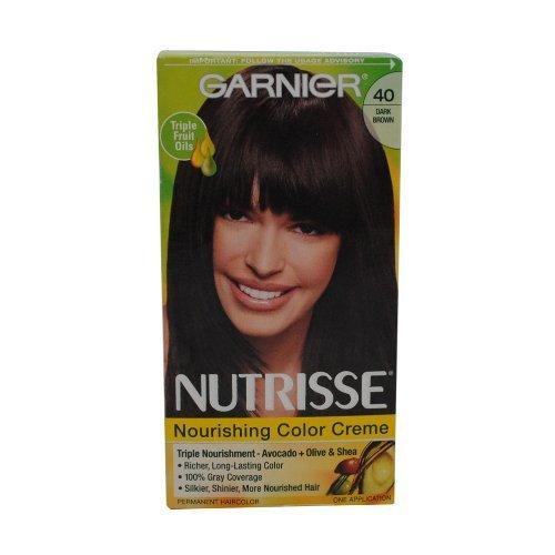 Garnier Nutrisse Niveau 3 Permanent Hair Creme, brun foncé 40 (chocolat noir)