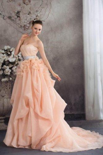 Schoene rosa Homecoming Prinzessin BRIDE Schaerpe GEORGE mit Perle Kleid Brautjungfernkleid Hxn5WcW7