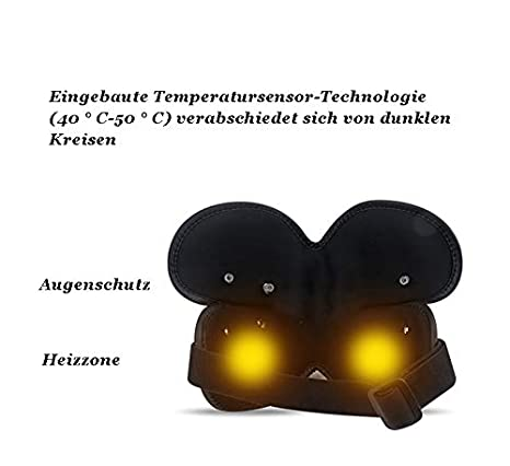Masajeador de ojos eléctrico con compresión de calor ...